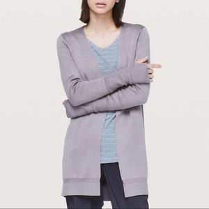 "Lululemon ""City Street"" Cardigan Mystique Size 4"